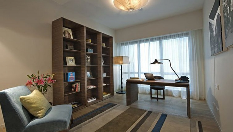Ideal study area in Lanson Place Bukit Ceylon Serviced Residences - Citybase Apartments