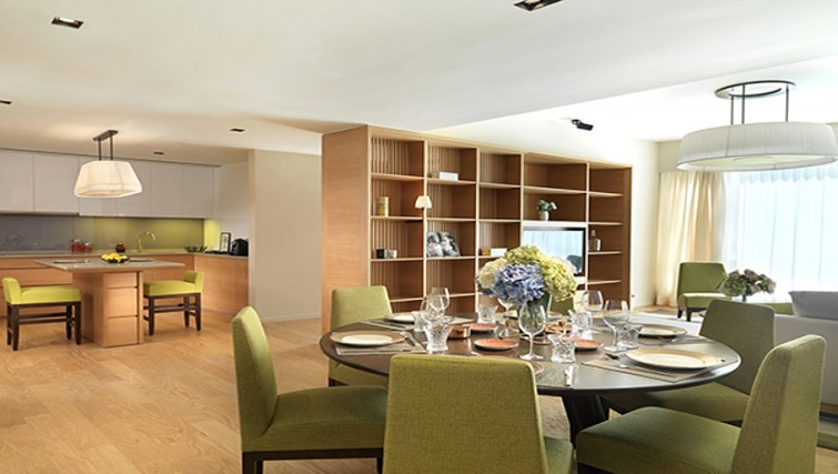 Classy dining area in Lanson Place Bukit Ceylon Serviced Residences - Citybase Apartments