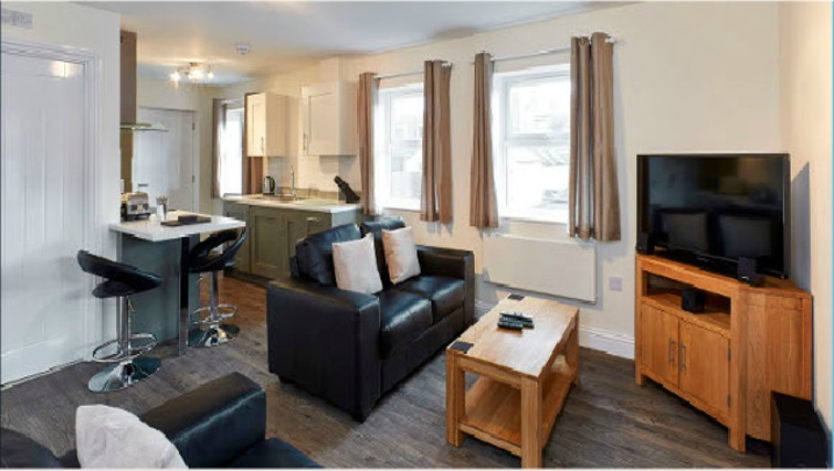 Attractive living area in Swan Place Apartments - Citybase Apartments