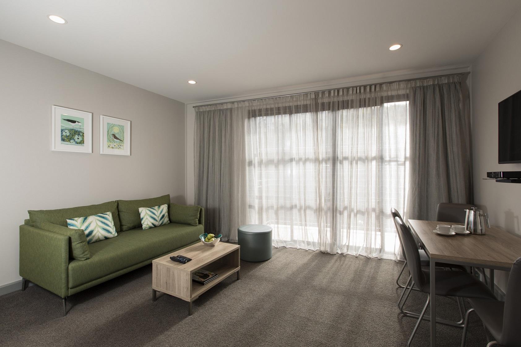 Open living area in Quest Atrium - Citybase Apartments