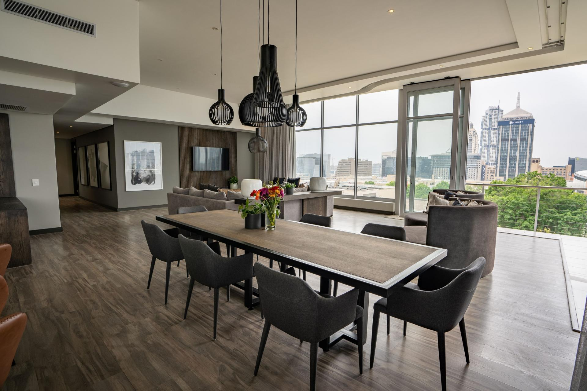 Penthosue dining area The Capital Empire, Sandton, Johannesburg - Citybase Apartments