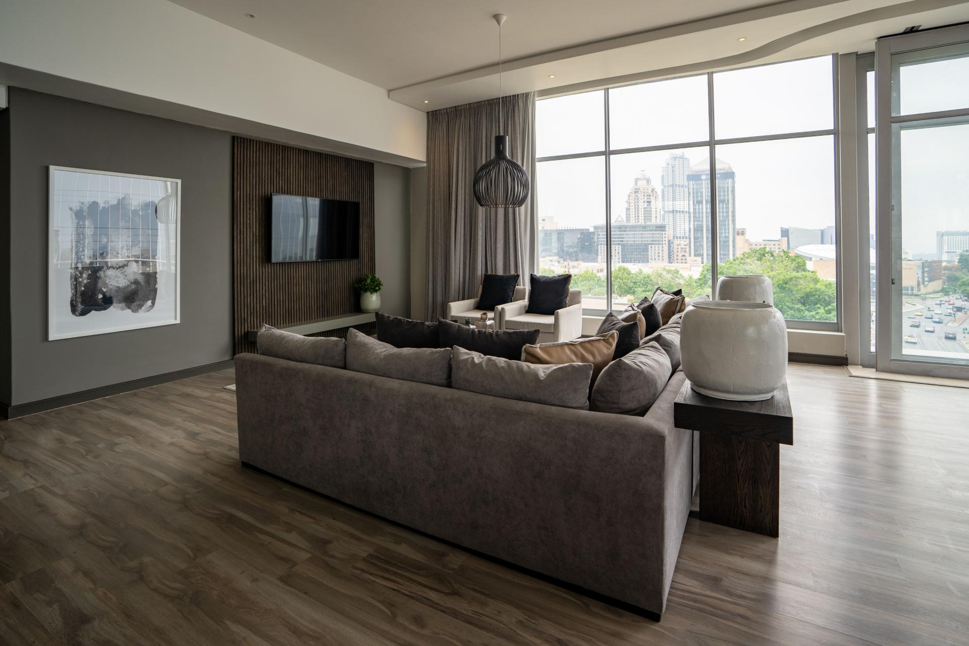 Living area at The Capital Empire, Sandton, Johannesburg - Citybase Apartments