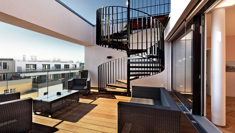 Gorgeous balcony in The Circus Apartments - Citybase Apartments