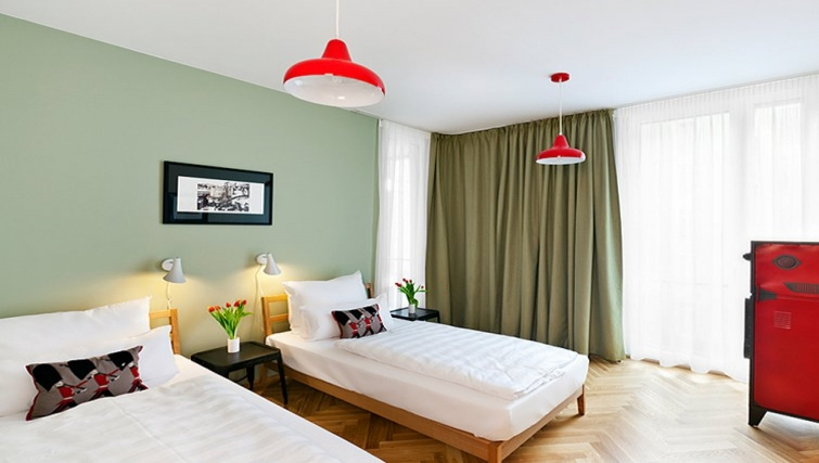 Bright bedroom in The Circus Apartments - Citybase Apartments