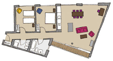 Floor plan C of The Circus Apartments - Citybase Apartments
