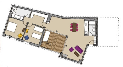 Floor plan D of The Circus Apartments - Citybase Apartments