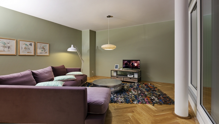 Relaxing living area in The Circus Apartments - Citybase Apartments