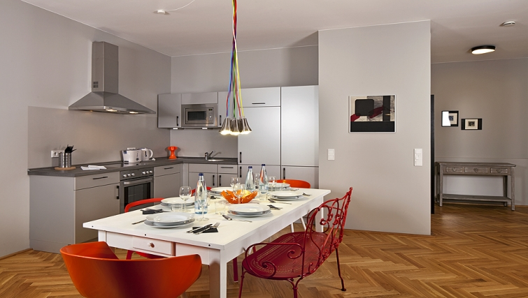 Stylish kitchen in The Circus Apartments - Citybase Apartments