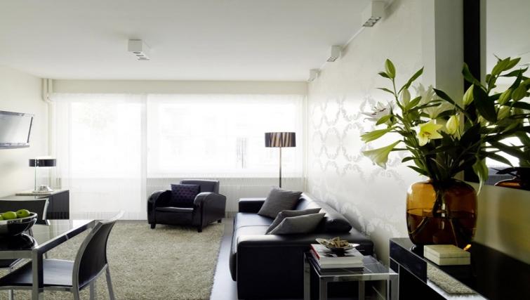 Modern living area at Caroline Apartments - Citybase Apartments