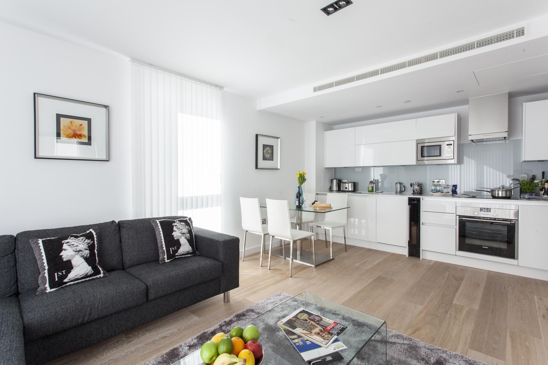 Open-plan at Avante-Garde Apartments - Citybase Apartments