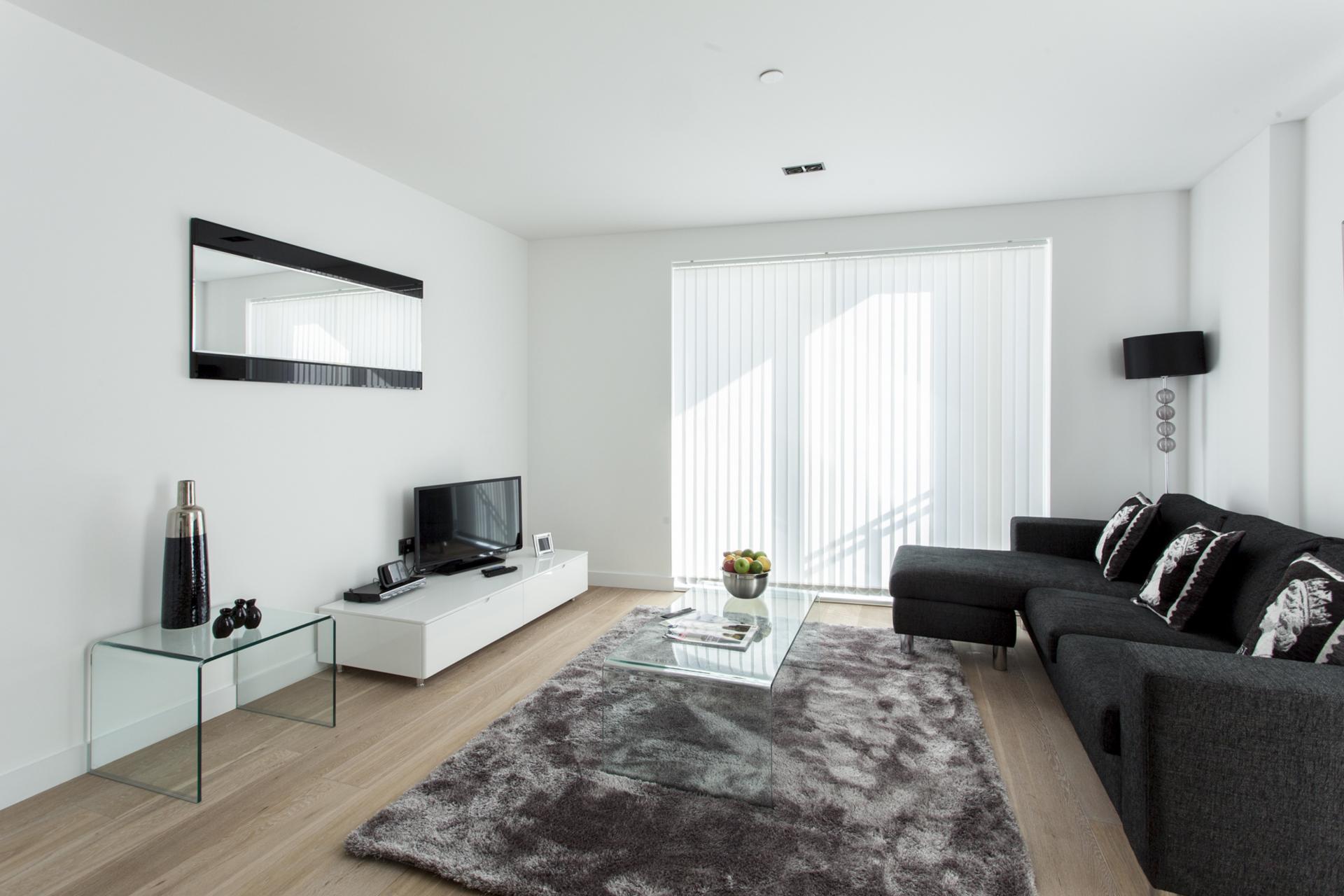 Living area at Avante-Garde Apartments - Citybase Apartments