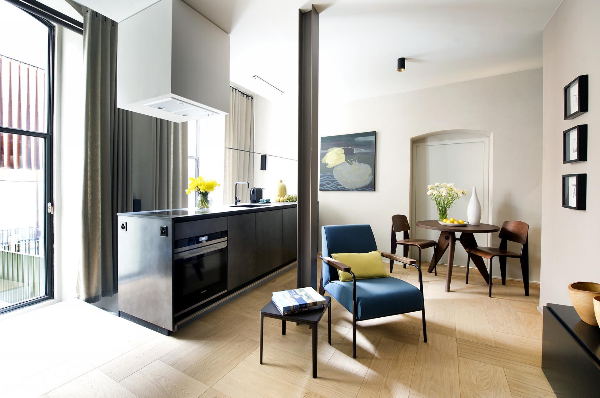 Modern interior of The Hamlet, Bourg-de-Four, Geneva - Citybase Apartments