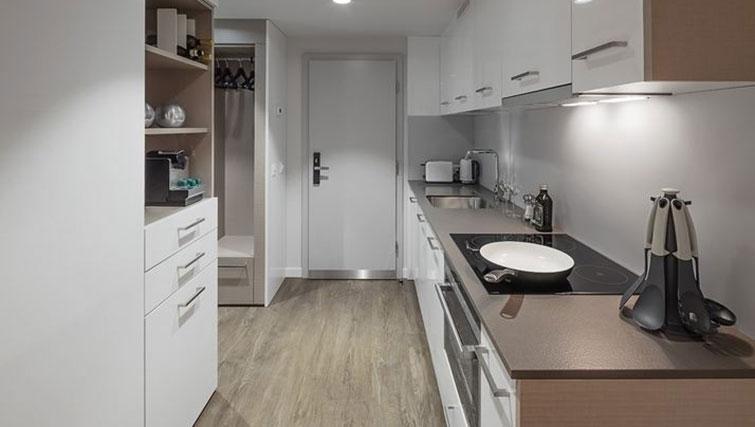 Equipped kitchen at Base Nyon Apartments - Citybase Apartments