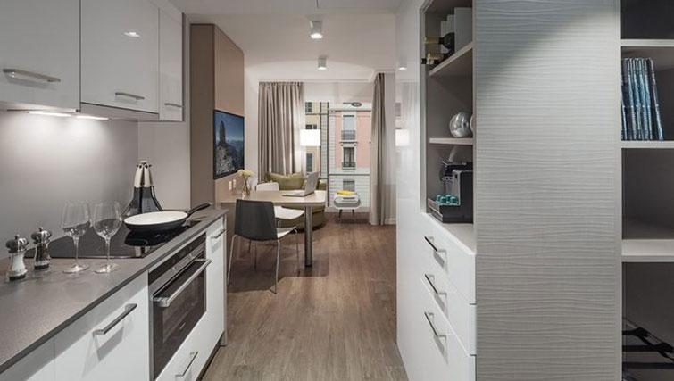 Kitchen at Base Nyon Apartments - Citybase Apartments