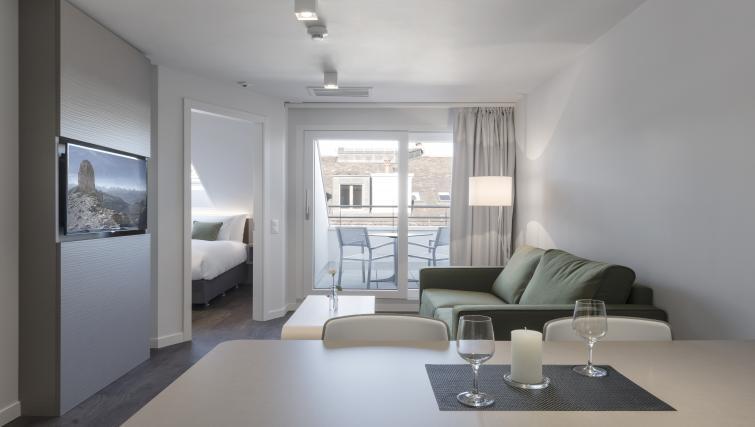 Living area at Base Nyon Apartments - Citybase Apartments