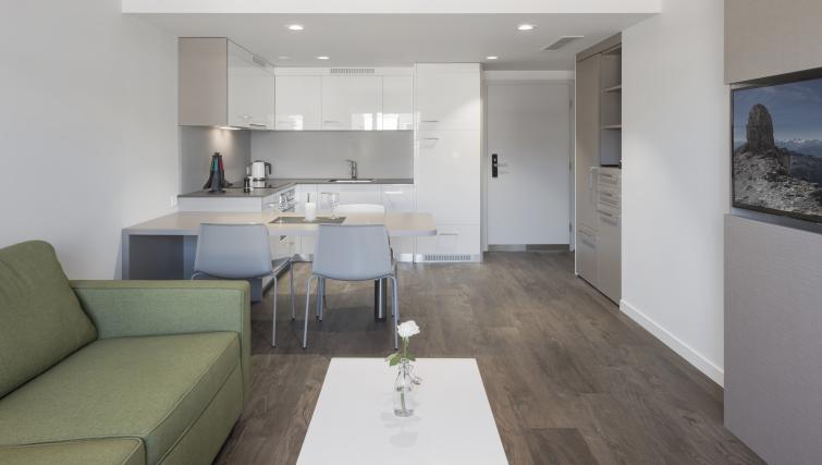 Kitchen/dining area at Base Nyon Apartments - Citybase Apartments