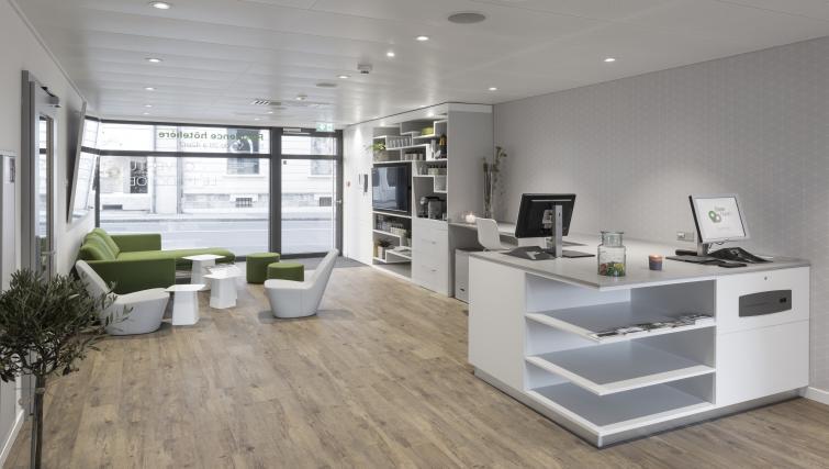 Modern living area at Base Nyon Apartments - Citybase Apartments