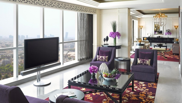 Marvellous living area at Dusit Thani Abu Dhabi Apartments - Citybase Apartments