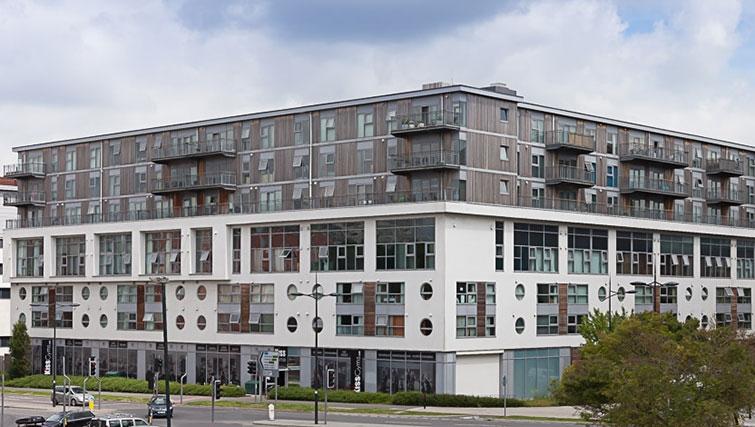 Contemporary exterior of Swindon Paramount Apartments - Citybase Apartments