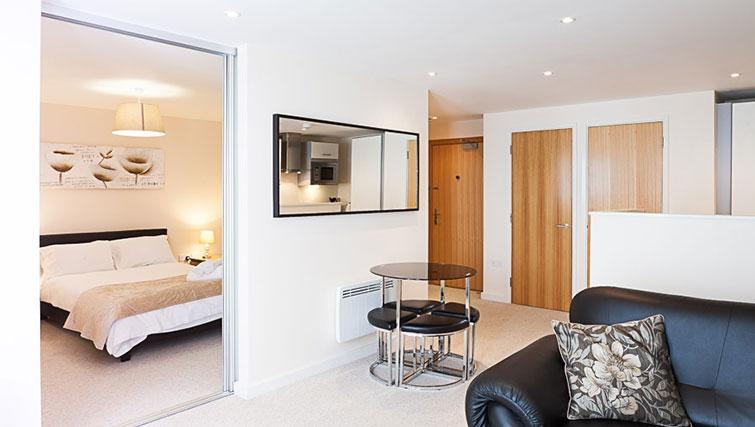 Spacious living area at Swindon Paramount Apartments - Citybase Apartments