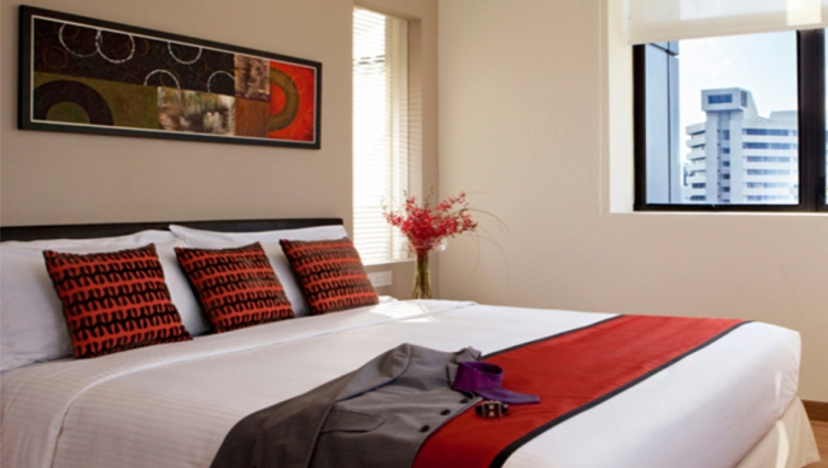 Bedroom in the 8 on Claymore Apartments, Singapore - Citybase Apartments