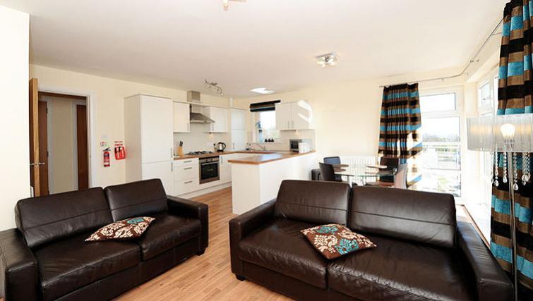 Open plan living area at Hilton Campus Apartments - Citybase Apartments