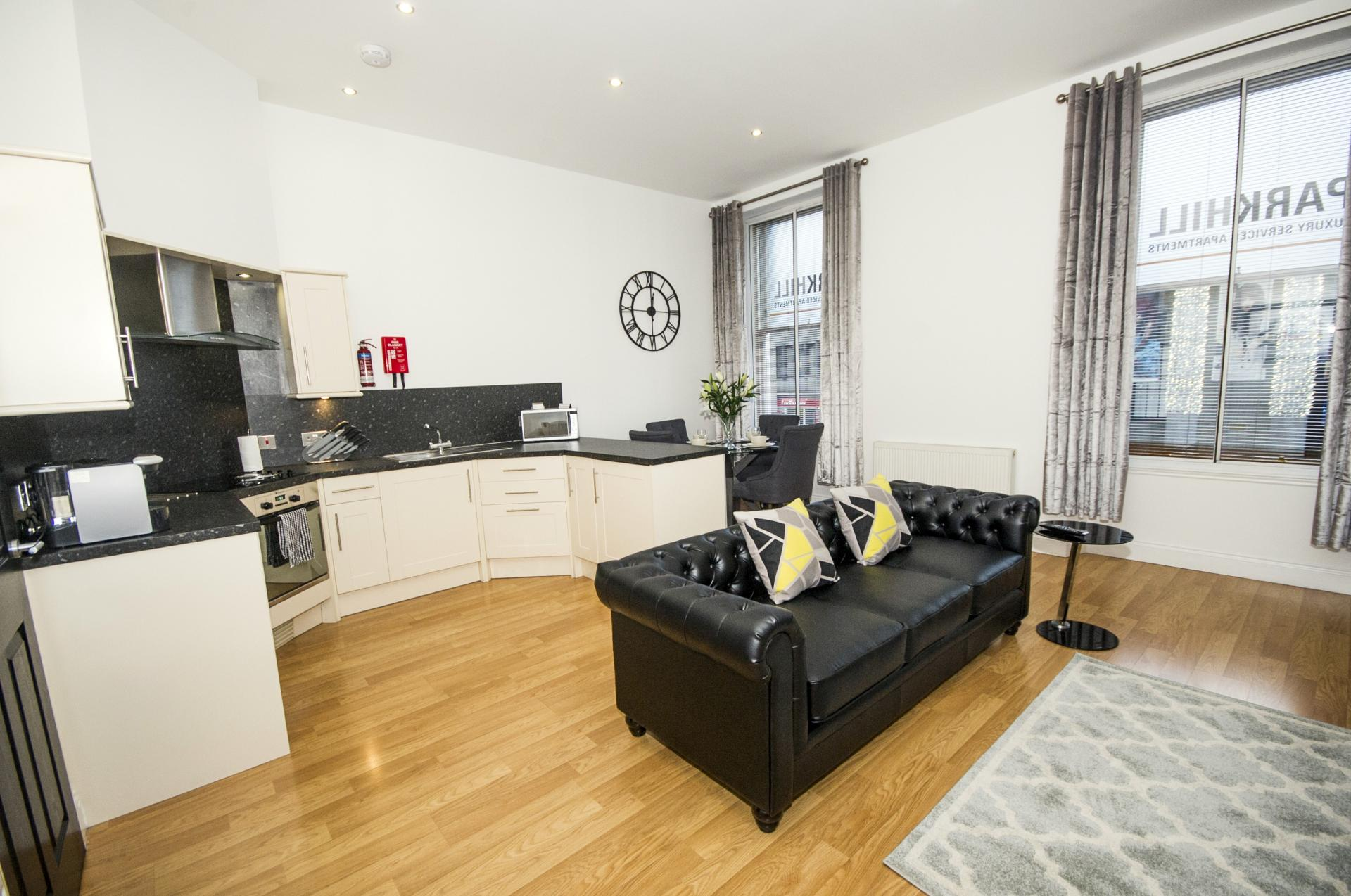 Open plan living at City Centre Apartments - Citybase Apartments