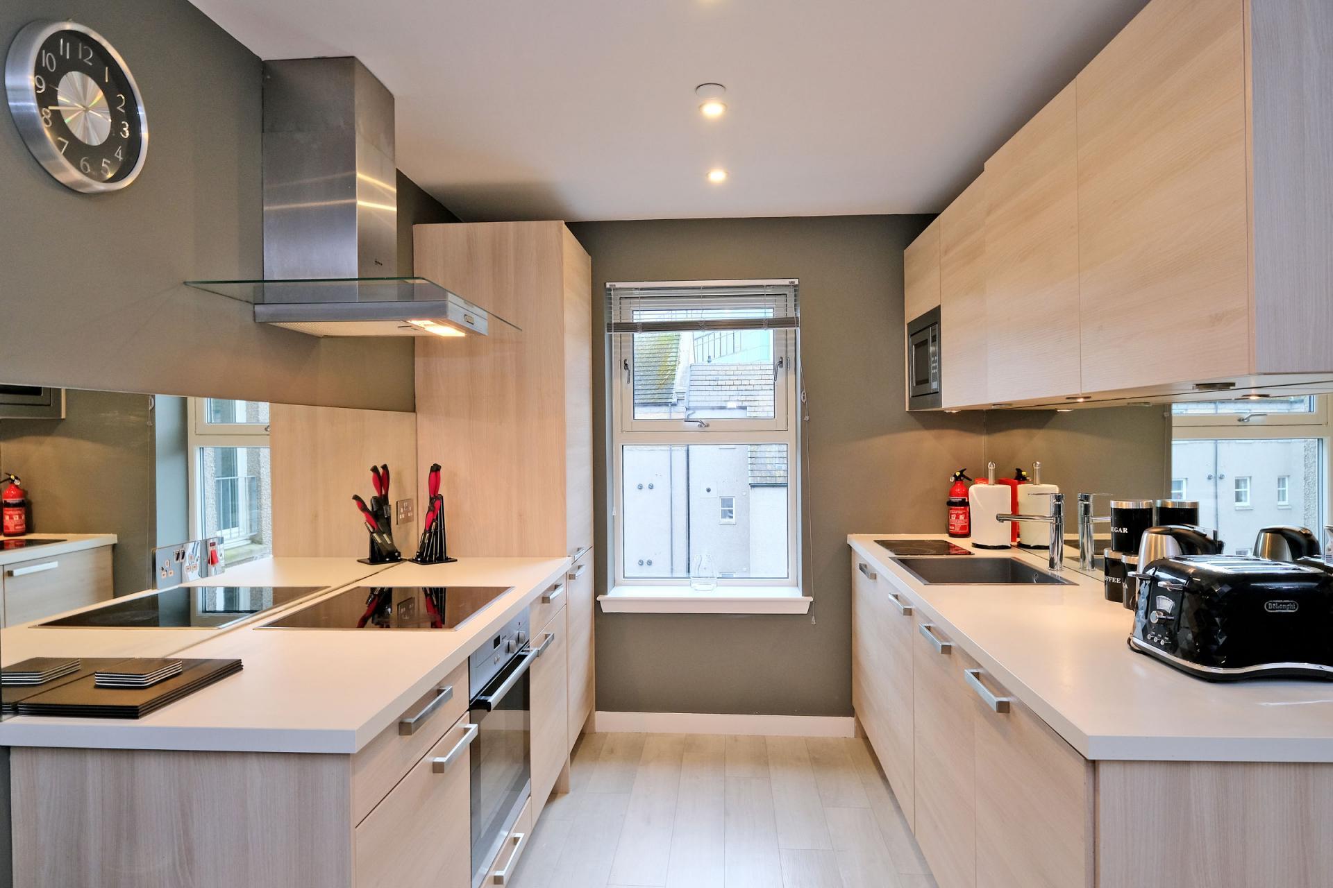 Kitchen at 54 Chapel Street Apartments, Centre, Aberdeen - Citybase Apartments