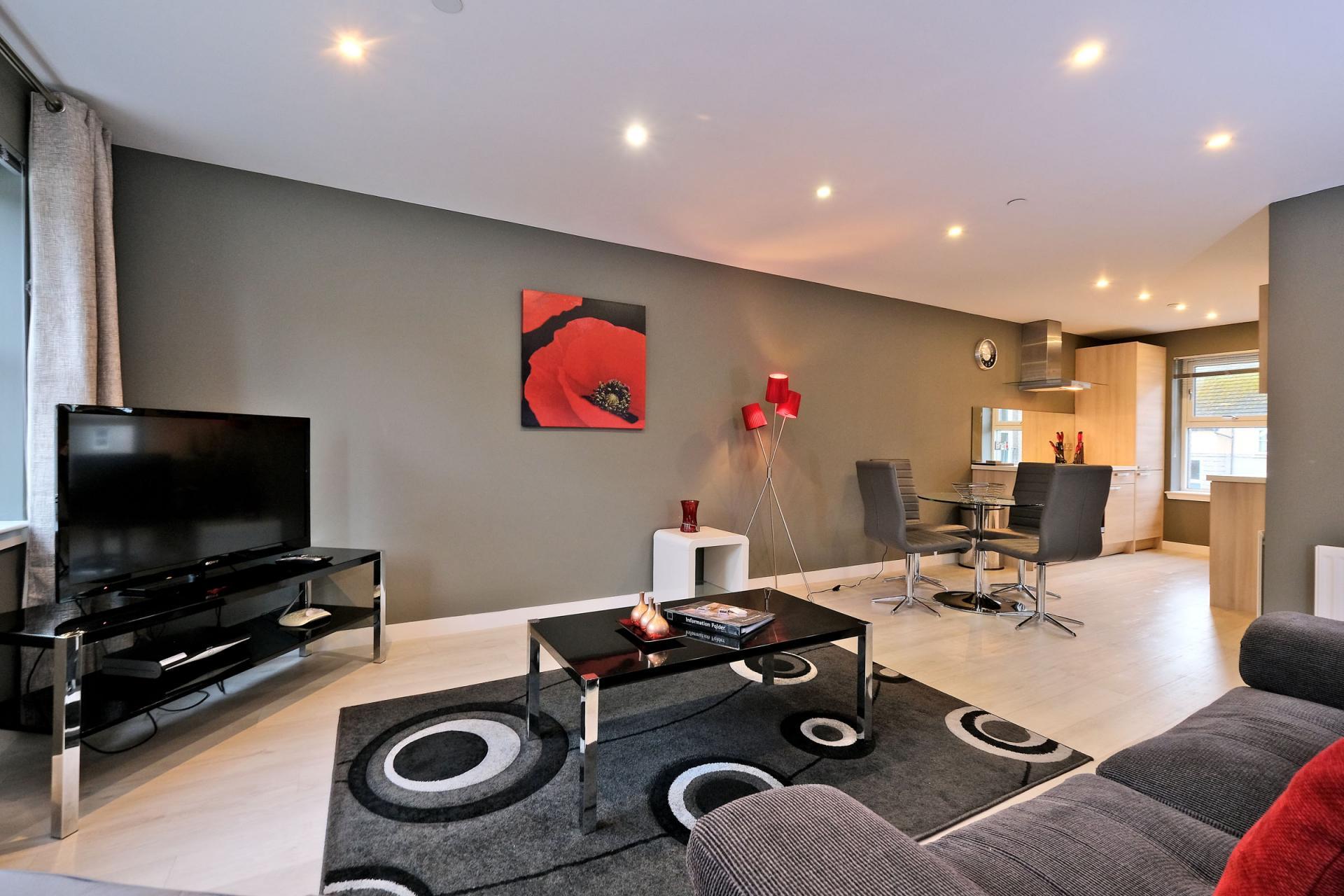 TV at 54 Chapel Street Apartments, Centre, Aberdeen - Citybase Apartments