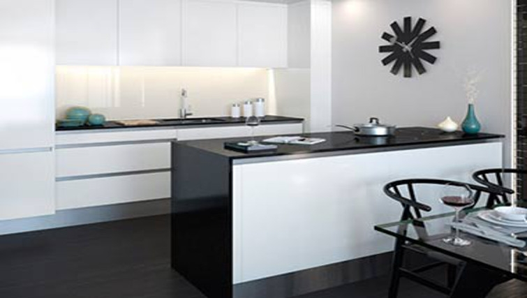 Simplistic kitchen at One Commercial Street Apartments - Citybase Apartments