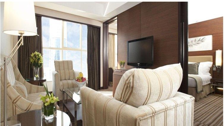 Living area in Grand Hyatt Doha Apartments - Citybase Apartments