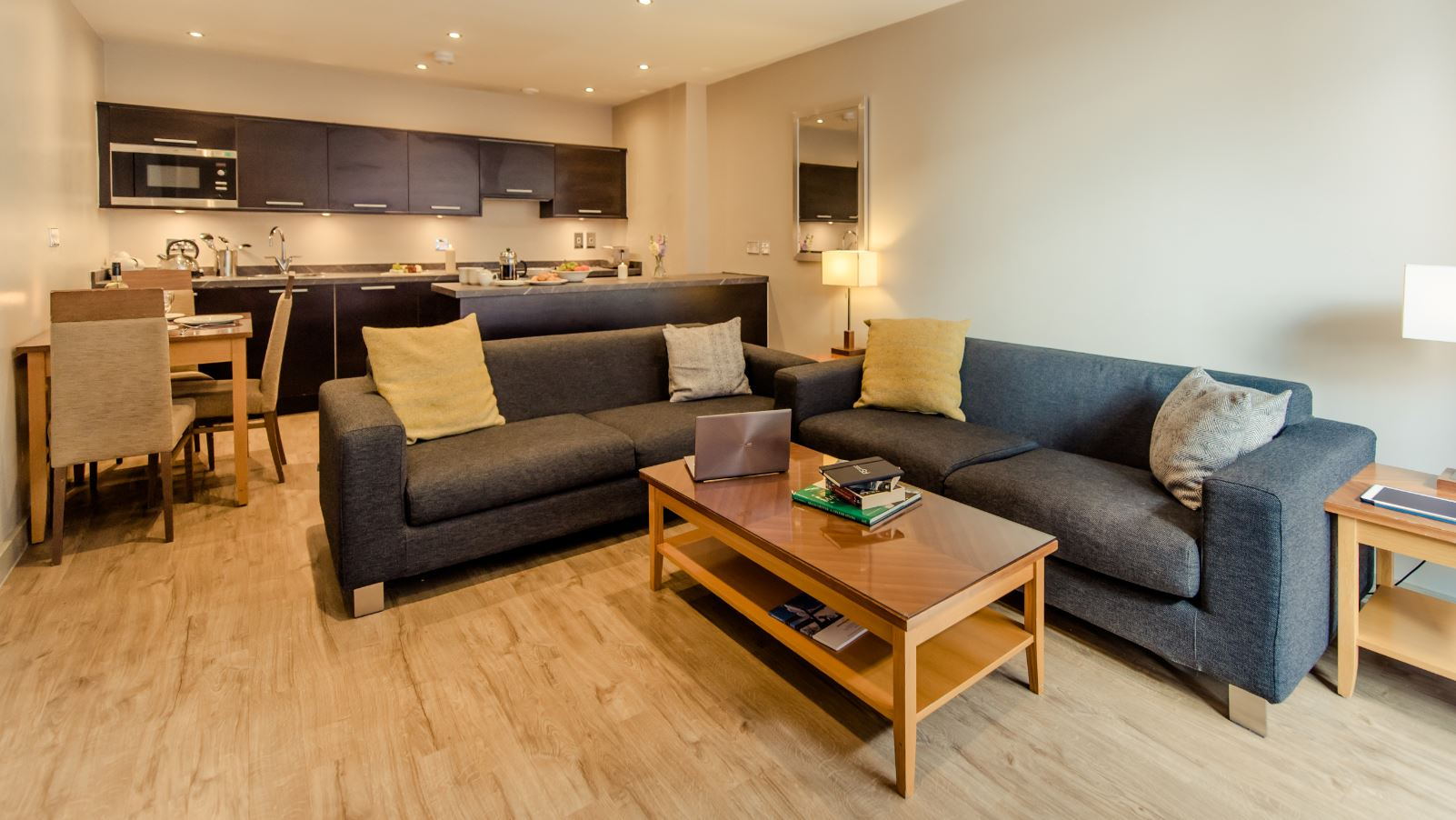 Living room at Premier Suites Manchester - Citybase Apartments