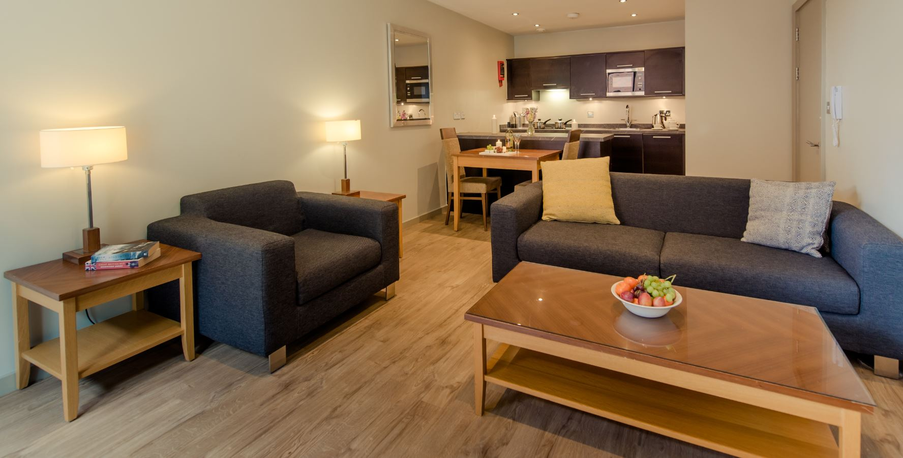 Coffee table at Premier Suites Manchester - Citybase Apartments