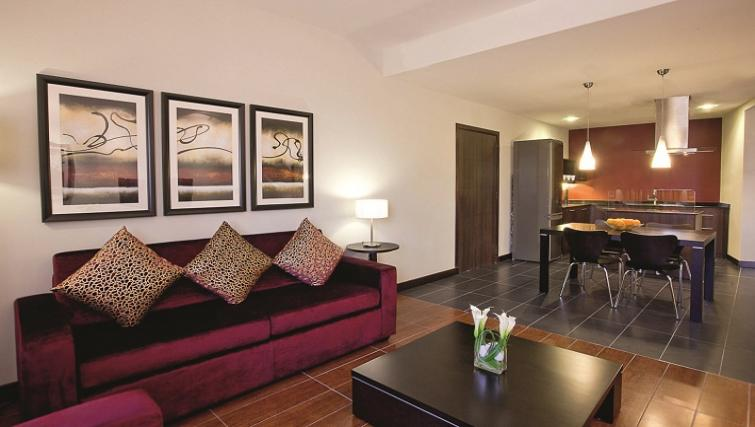 Living area in Moevenpick Al Mamzar Apartments - Citybase Apartments