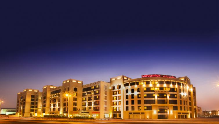 Exterior of Moevenpick Al Mamzar Apartments - Citybase Apartments