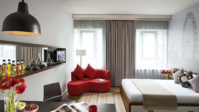 Modern living area at the Citadines Holborn & Covent Garden London - Citybase Apartments