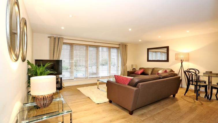 Spacious living area at Dempsey Court Apartments - Citybase Apartments