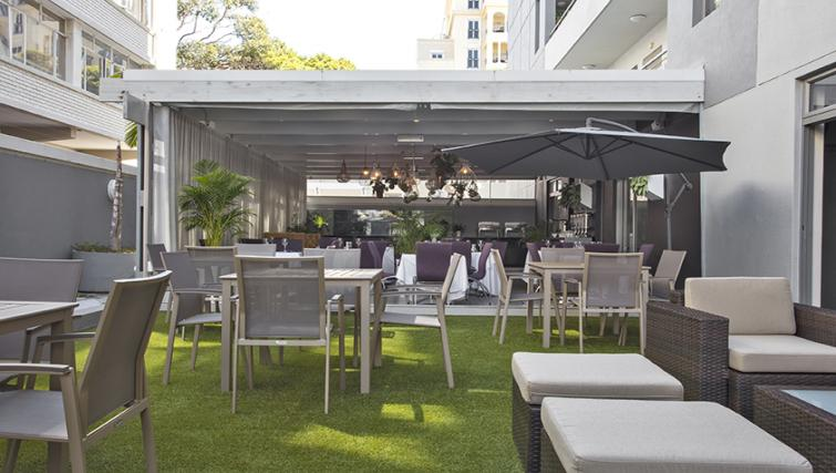 Grass area at The Hyde Hotel Sea Point - Citybase Apartments