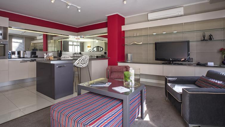 Open-plan living at The Hyde Hotel Sea Point - Citybase Apartments