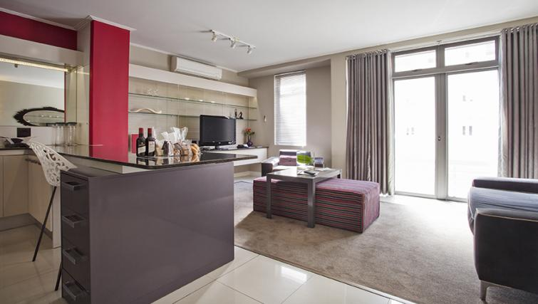 Modern living area at The Hyde Hotel Sea Point - Citybase Apartments