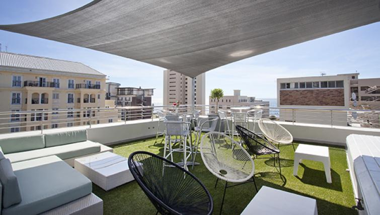 Outside area at The Hyde Hotel Sea Point - Citybase Apartments