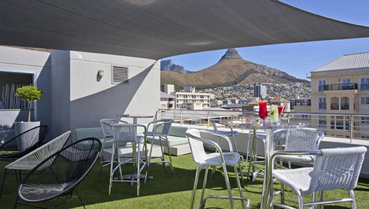 Communal outside area at The Hyde Hotel Sea Point - Citybase Apartments
