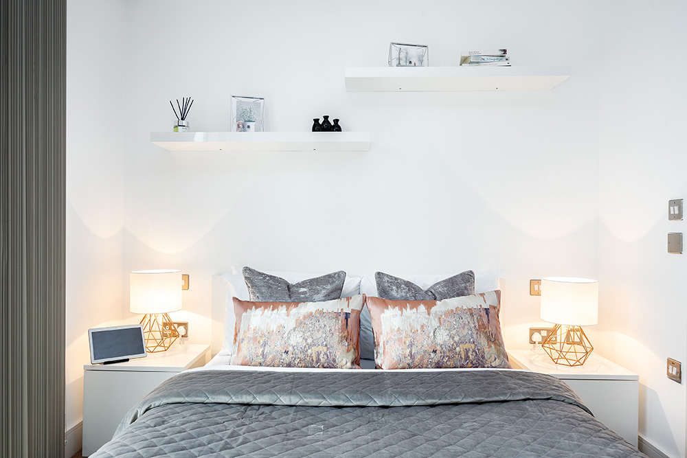 Modern bedroom at Altitude Point Apartments - Citybase Apartments