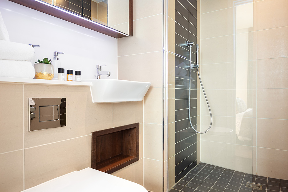 Bathroom at Altitude Point Apartments - Citybase Apartments