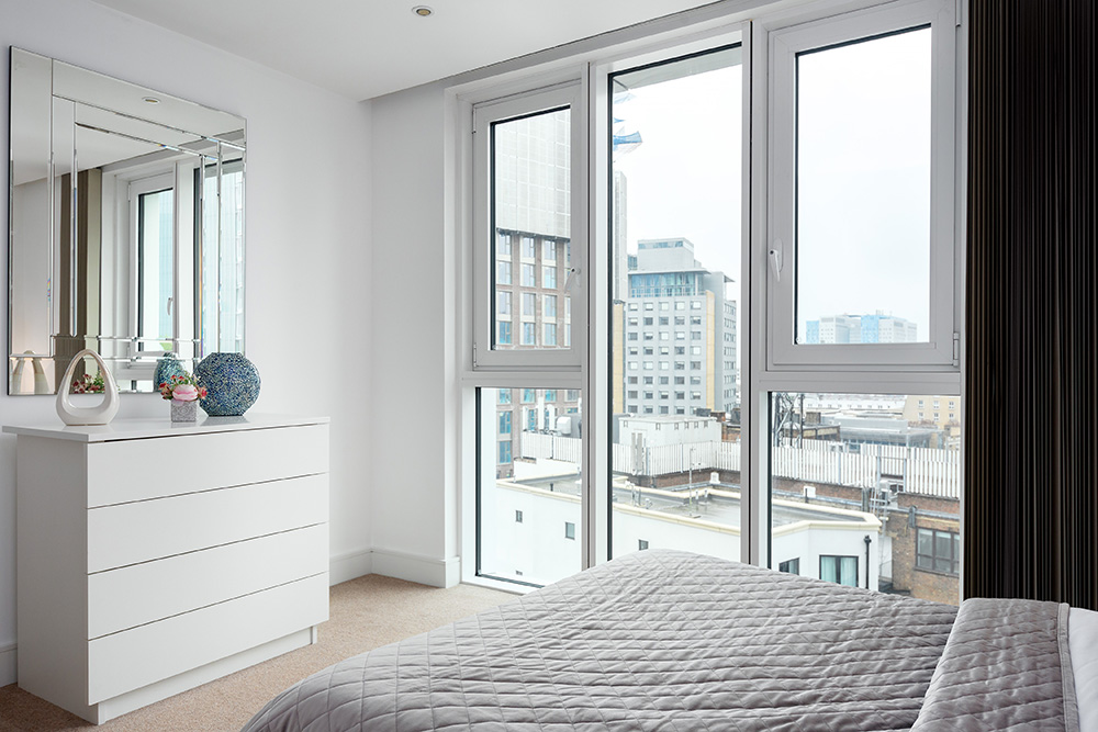 Bright bedroom at Altitude Point Apartments - Citybase Apartments