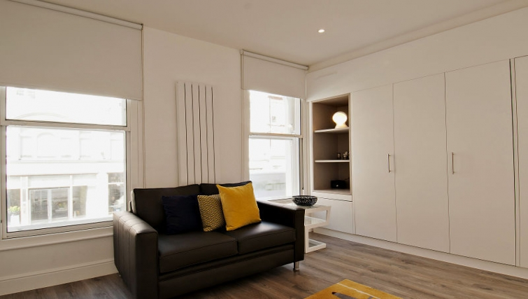 Bright living area at Wigmore Street Apartments - Citybase Apartments