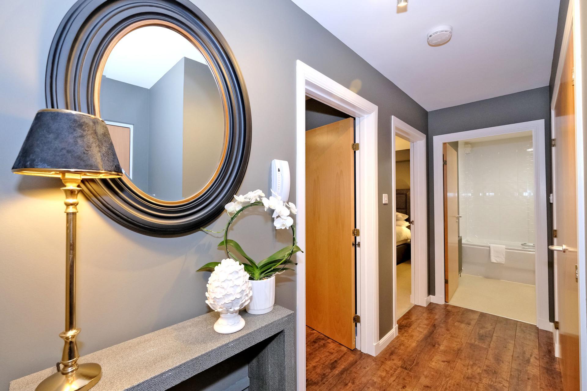 Hallway at Bothwell Road Apartments - Citybase Apartments