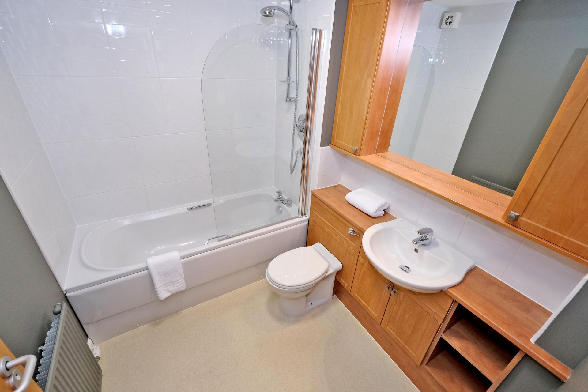 Bathroom at Bothwell Road Apartments - Citybase Apartments
