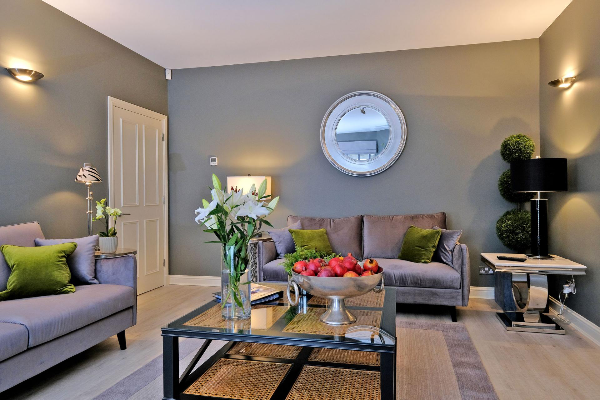 Living area at Queens Road Apartments - Citybase Apartments