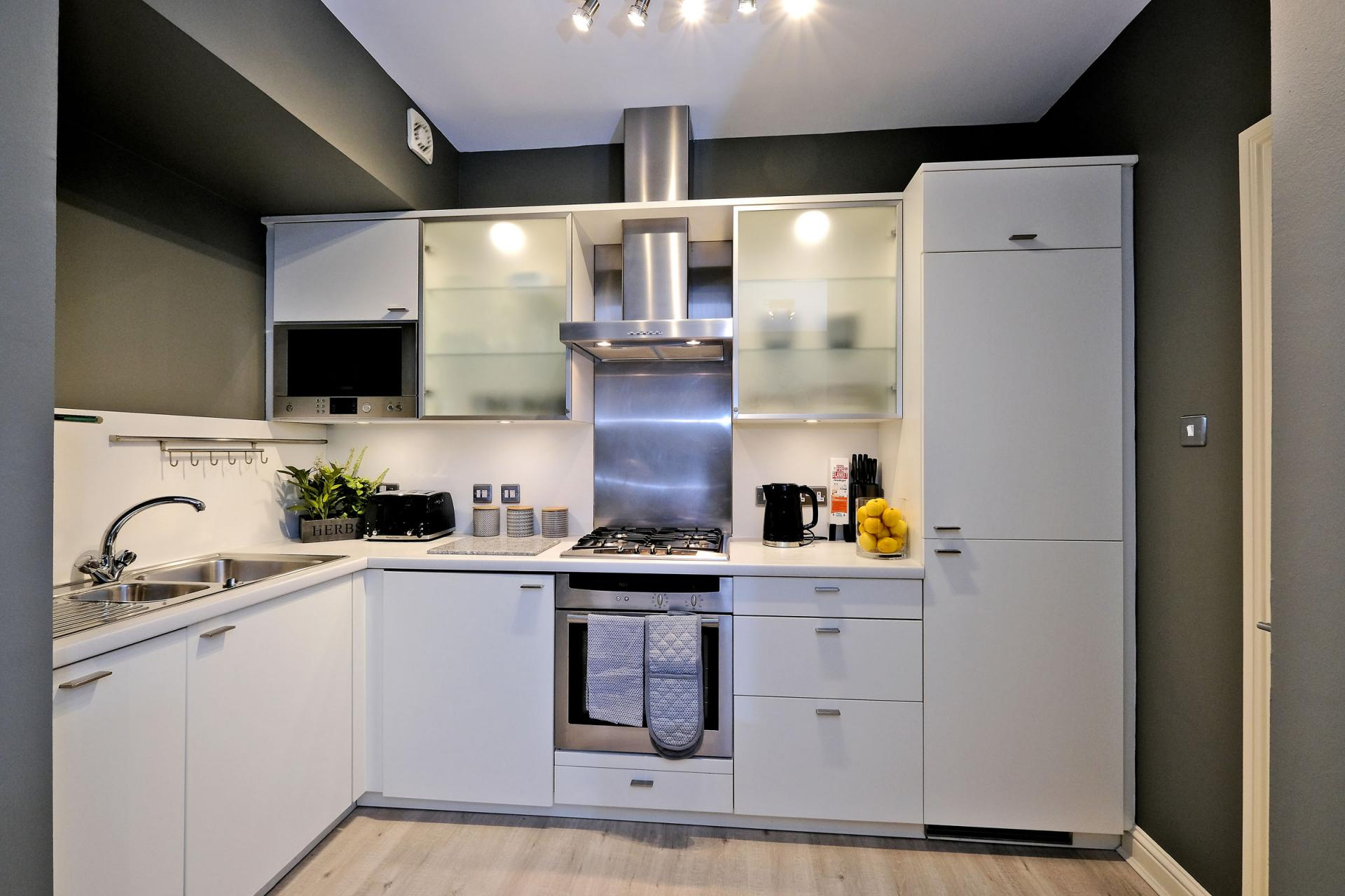 Kitchen at Queens Road Apartments - Citybase Apartments
